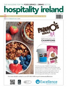 An image of the cover of Hospitality Ireland for its 'subscribe' page