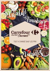 "Carrefour Gourmet flyer ""everything's changed except the prices"""