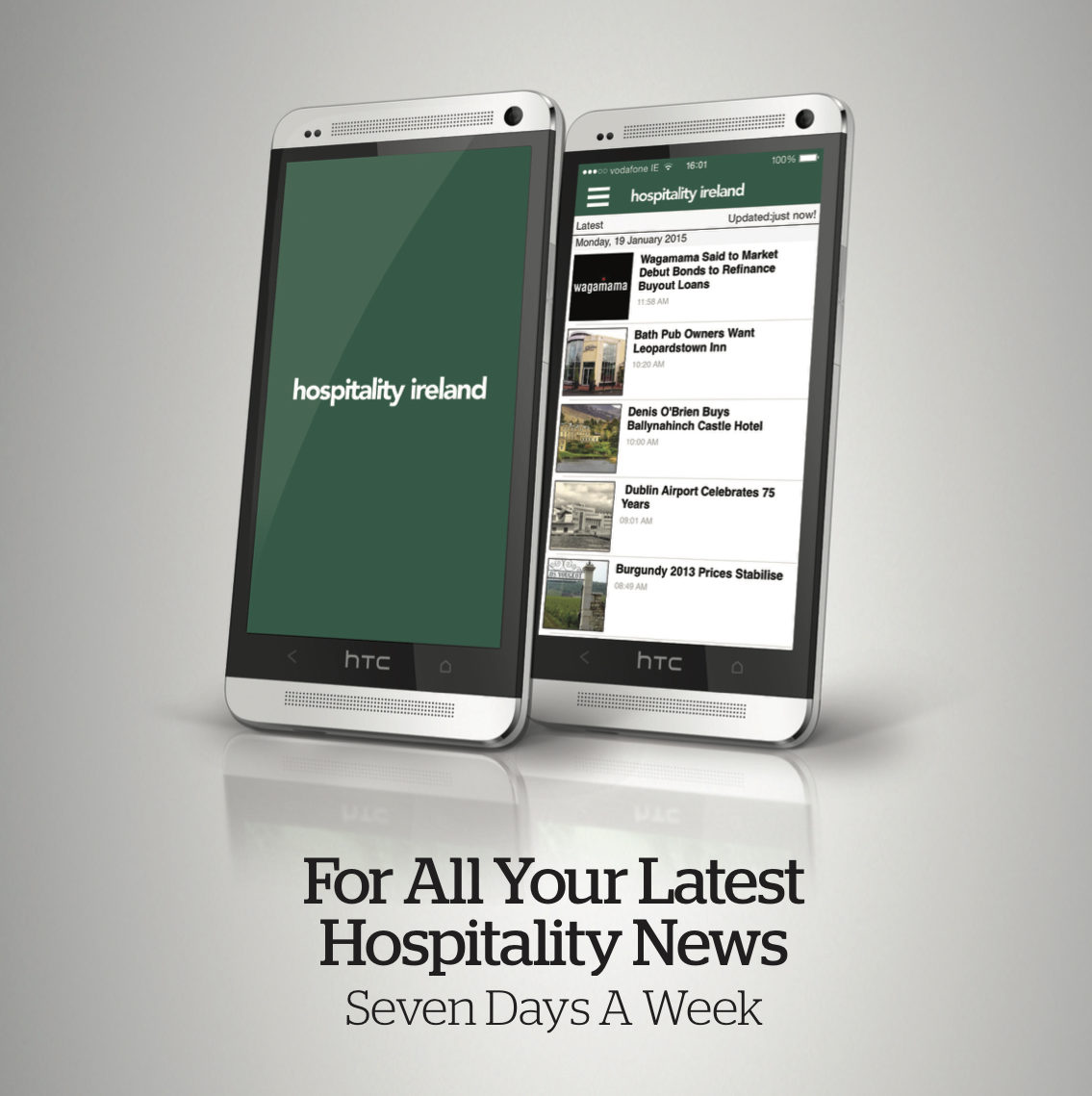 An image of the Hospitality Ireland app on mobile devices.