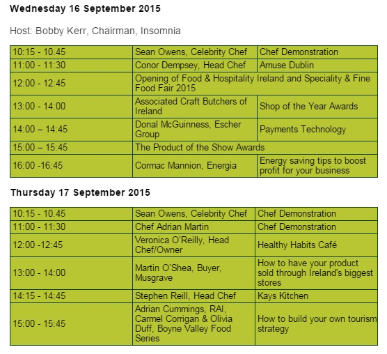 Spotlight Stage timetable